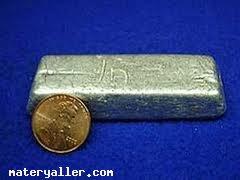 Kimyâsal sembolü in olan metalik bir element indiyumun tabiatta