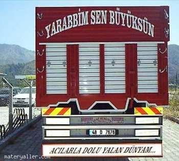 İslami kamyon arkası yazılarından seçmeler