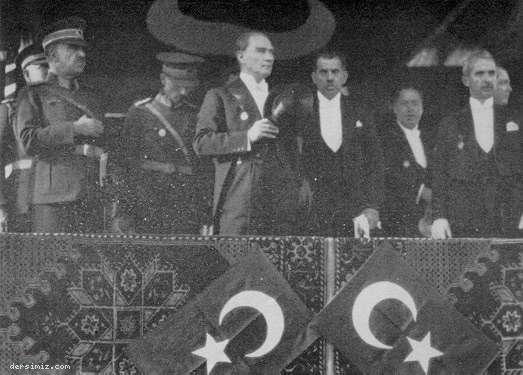 Atatürk Cumhuriyet Bayramı Töreninde