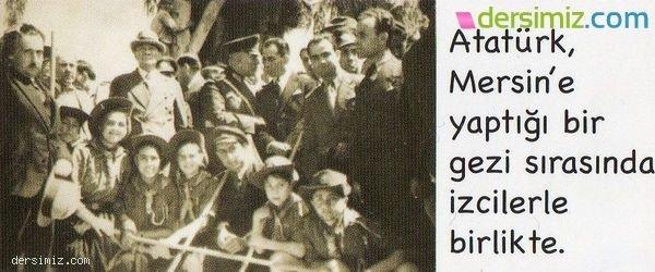 Atatürk İzcilerle