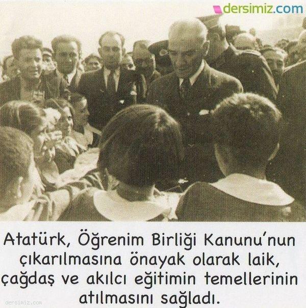 Atatürk Eğitim Çalışmalarında