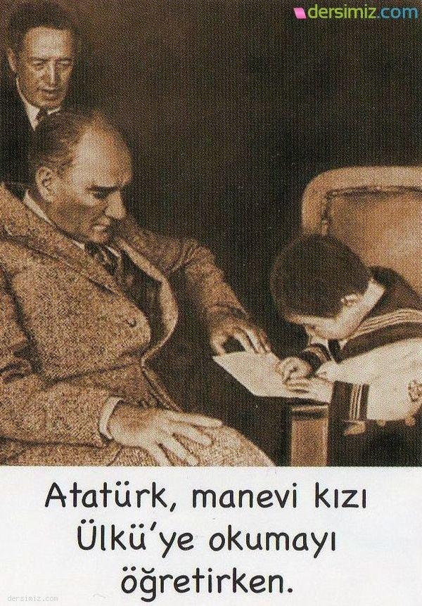 Atatürk Okuma Öğretirken