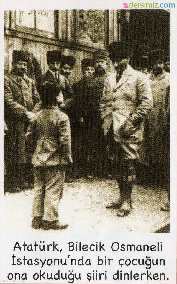 Atatürk Bilecik Osmaneli de şiir dinlerken